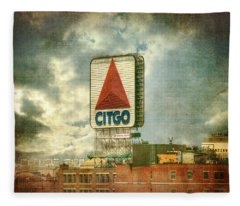 Vintage Kenmore Square Citgo Sign - Boston Red Sox Fleece Blanket
