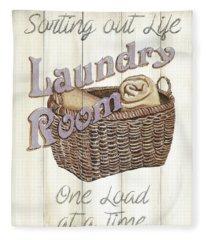 Vintage Laundry Room 2 Fleece Blanket