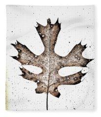 Vintage Leaf Fleece Blanket