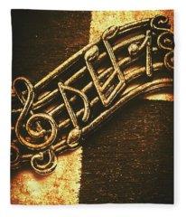 Vintage Melody Fleece Blanket