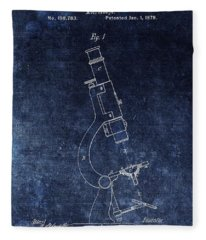 Vintage Microscope Patent Fleece Blanket