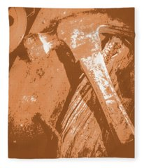 Vintage Miners Hammer Artwork Fleece Blanket