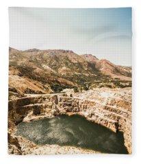 Vintage Mining Pit Fleece Blanket