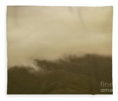 Vintage Mountains Covered By Cloud Fleece Blanket