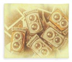 Vintage Photographer Film Art Fleece Blanket
