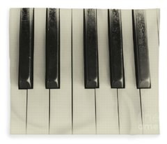 Vintage Piano Fleece Blanket