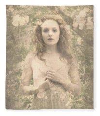 Vintage Portrait Fleece Blanket