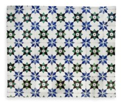 Vintage Portuguese Tiles Fleece Blanket