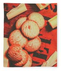 Vintage Rich Butter Shortcake Cookies Fleece Blanket