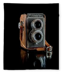 Vintage Ricohflex Camera Fleece Blanket