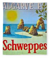 Vintage Schweppes Algarve Mosaic Fleece Blanket