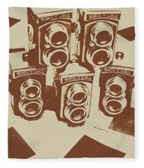 Vintage Snapshots And Old Cameras Fleece Blanket