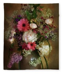 Vintage Still Life Fleece Blanket