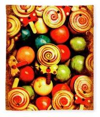 Vintage Sweets Store Fleece Blanket