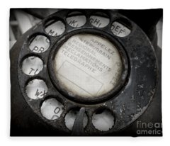 Vintage Telephone Fleece Blanket