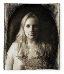 Vintage Tintype Ir Self-portrait Fleece Blanket