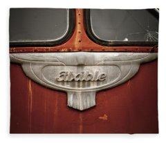 Vintage Tour Bus Fleece Blanket