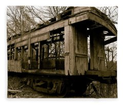 Vintage Train Fleece Blanket