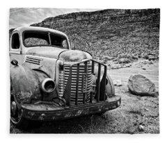 Vintage Truck Fleece Blanket