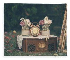 Vintage Wedding Decoration Still Life Fleece Blanket