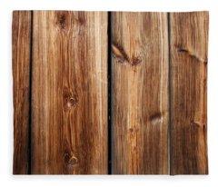 Vintage Wood Planks Fleece Blanket