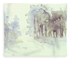 Vintrig Skogsglanta, A Wintry Glade In The Woods 2,83 Mb_0047 Up To 60 X 40 Cm Fleece Blanket