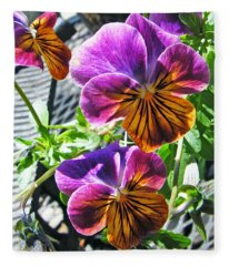 Violas Fleece Blanket