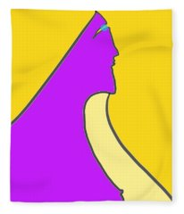 Violet Blonde Fleece Blanket