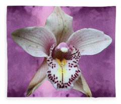 Violet Colored Lauritzen Orchid Fleece Blanket