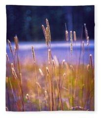 Violet Dawn In Durango Fleece Blanket