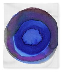 Violet Drops 1- Art By Linda Woods Fleece Blanket