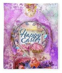Violet Easter Fleece Blanket