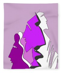 Violet Fleece Blanket