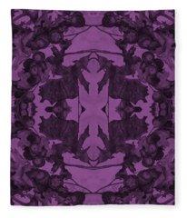 Violet Oak Tree Pattern Fleece Blanket