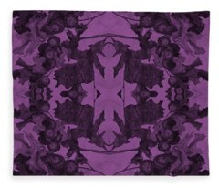 Violet Oak Tree Pattern Fleece Blanket