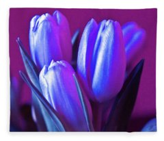 Violet Poetry Of Spring Fleece Blanket
