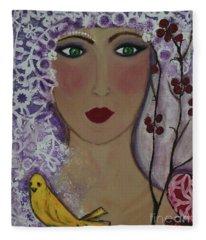 Violet Queen Fleece Blanket