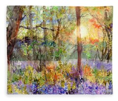 Violet Sunrise Fleece Blanket