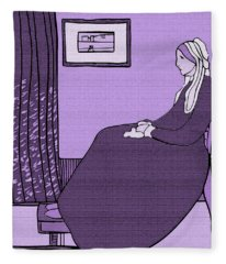 Violet Whistler's Mother Fleece Blanket