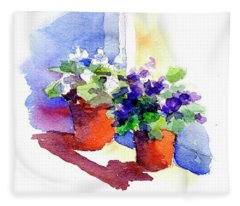 Violets Are Blue Fleece Blanket