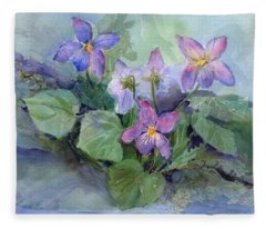 Violets Fleece Blanket