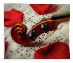Violin Close Up Fleece Blanket
