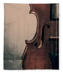 Violin Portrait  Fleece Blanket