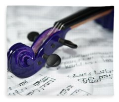 Violin Tuning Pegs  Fleece Blanket