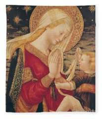Virgin And Child  Fleece Blanket