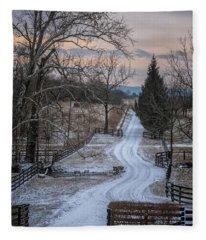 Virginia Country Lane II Fleece Blanket