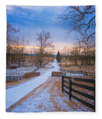 Virginia Country Lane Fleece Blanket