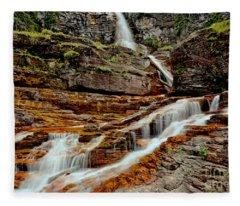 Virginia Falls Landscape Fleece Blanket