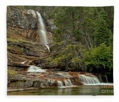 Virginia Falls Pool Fleece Blanket
