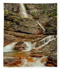 Virginia Falls Portrait Fleece Blanket